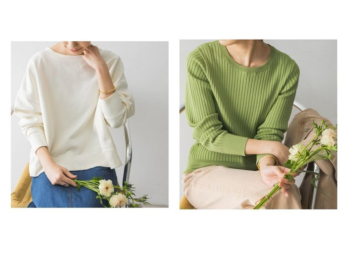 【URBAN RESEARCH/アーバンリサーチ】のピグメントカラースウェット&Nコンパクトリブニット(長袖) URBAN RESEARCH DOORSのおすすめ!人気、トレンド・レディースファッションの通販 おすすめファッション通販アイテム レディースファッション・服の通販 founy(ファニー) ファッション Fashion レディースファッション WOMEN トップス Tops Tshirt パーカ Sweats スウェット Sweat カットソー Cut and Sewn ニット Knit Tops NEW・新作・新着・新入荷 New Arrivals カットソー スウェット ポケット ヴィンテージ 定番 Standard 春 Spring A/W 秋冬 AW Autumn/Winter / FW Fall-Winter S/S 春夏 SS Spring/Summer インナー キャミワンピース プリント ベーシック 冬 Winter 長袖 |ID:crp329100000018576