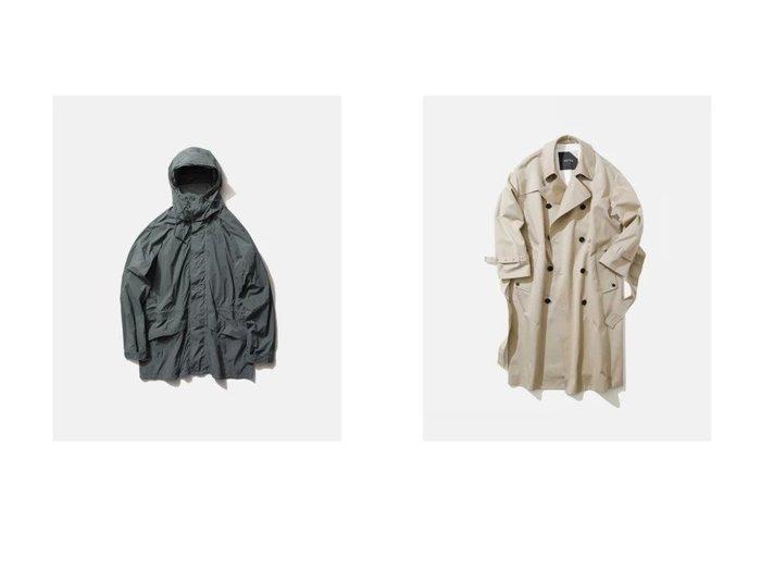 【ATON/エイトン】のオーバーサイズ トレンチコート(UNISEX)&マウンテンパーカー(UNISEX) ATONのおすすめ!人気、トレンド・レディースファッションの通販 おすすめファッション通販アイテム レディースファッション・服の通販 founy(ファニー) ファッション Fashion レディースファッション WOMEN アウター Coat Outerwear ジャケット Jackets コート Coats トレンチコート Trench Coats アウトドア ジャケット スタンド スリーブ パーカー UNISEX ループ カリフォルニア トレンチ ラップ |ID:crp329100000018659