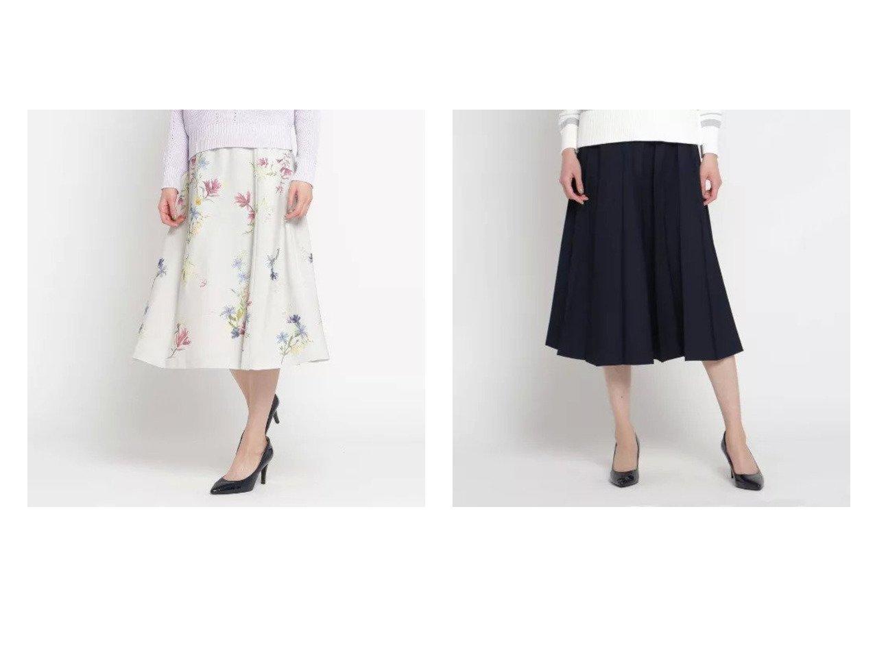 【SunaUna/スーナウーナ】のリノツイルプリーツスカート&フラワープリントフレアスカート SunaUnaのおすすめ!人気、トレンド・レディースファッションの通販  おすすめで人気の流行・トレンド、ファッションの通販商品 メンズファッション・キッズファッション・インテリア・家具・レディースファッション・服の通販 founy(ファニー) https://founy.com/ ファッション Fashion レディースファッション WOMEN スカート Skirt Aライン/フレアスカート Flared A-Line Skirts プリーツスカート Pleated Skirts インナー フレアースカート プリント ポケット 春 Spring ツイル プリーツ ボトム |ID:crp329100000018675