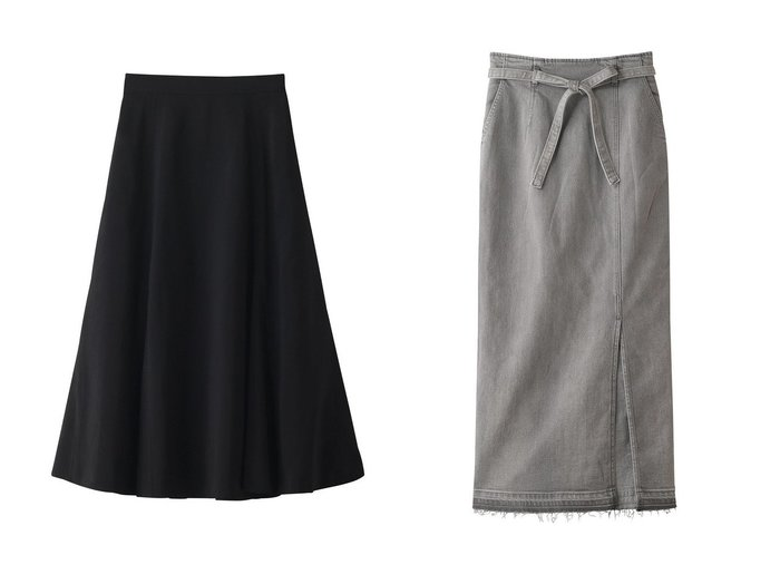 【Ezick/エジック】のキリカエスカート&タイトデニムスカート Ezickのおすすめ!人気、トレンド・レディースファッションの通販 おすすめファッション通販アイテム レディースファッション・服の通販 founy(ファニー) ファッション Fashion レディースファッション WOMEN スカート Skirt デニムスカート Denim Skirts 2021年 2021 2021 春夏 S/S SS Spring/Summer 2021 S/S 春夏 SS Spring/Summer シンプル ジャケット セットアップ ドレープ フレア 春 Spring |ID:crp329100000018723