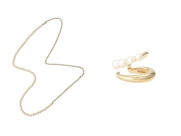 【allureville/アルアバイル】のパールメタルイヤーカフ&パールチェーン2WAYネックレス allurevilleのおすすめ!人気、トレンド・レディースファッションの通販 おすすめファッション通販アイテム レディースファッション・服の通販 founy(ファニー) ファッション Fashion レディースファッション WOMEN ジュエリー Jewelry ネックレス Necklaces リング Rings イヤリング Earrings 2021年 2021 2021 春夏 S/S SS Spring/Summer 2021 S/S 春夏 SS Spring/Summer シンプル チェーン ネックレス パーティ パール ロング 春 Spring イヤーカフ クール シルバー フェミニン フープ メタル 片耳 |ID:crp329100000018731