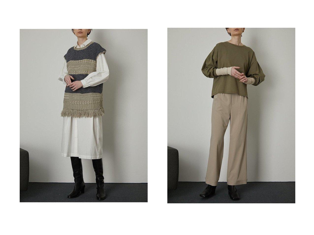 【RIM.ARK/リムアーク】のトップス&ニット RIM.ARKのおすすめ!人気、トレンド・レディースファッションの通販 おすすめで人気の流行・トレンド、ファッションの通販商品 メンズファッション・キッズファッション・インテリア・家具・レディースファッション・服の通販 founy(ファニー) https://founy.com/ ファッション Fashion レディースファッション WOMEN トップス Tops Tshirt ニット Knit Tops プルオーバー Pullover シャツ/ブラウス Shirts Blouses ロング / Tシャツ T-Shirts カットソー Cut and Sewn 2021年 2021 2021 春夏 S/S SS Spring/Summer 2021 S/S 春夏 SS Spring/Summer ハンド フリンジ ベスト 春 Spring |ID:crp329100000018757