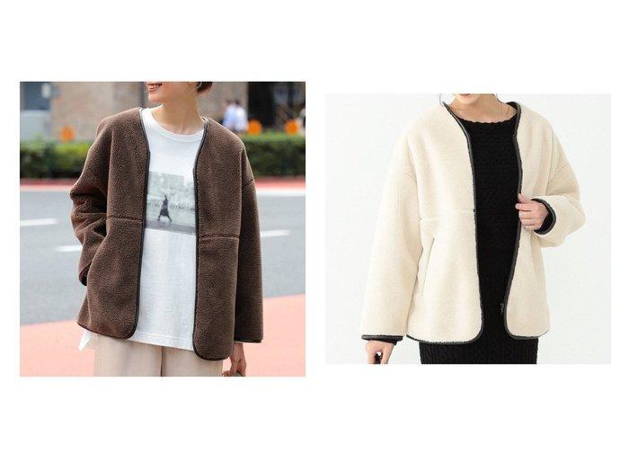 【B:MING LIFE STORE by BEAMS/ビーミングライフストアバイビームス】のボア ショート ブルゾン 20AW BEAMSのおすすめ!人気、トレンド・レディースファッションの通販  おすすめファッション通販アイテム レディースファッション・服の通販 founy(ファニー) ファッション Fashion レディースファッション WOMEN アウター Coat Outerwear コート Coats ジャケット Jackets ブルゾン Blouson Jackets 2020年 2020 2020-2021 秋冬 A/W AW Autumn/Winter / FW Fall-Winter 2020-2021 A/W 秋冬 AW Autumn/Winter / FW Fall-Winter ショート ジャケット パイピング ブルゾン ロング 再入荷 Restock/Back in Stock/Re Arrival 冬 Winter 定番 Standard 防寒 |ID:crp329100000018807