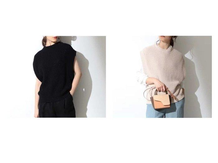 【Demi-Luxe BEAMS/デミルクス ビームス】のDemi- 畦編み コットン ニットベスト BEAMSのおすすめ!人気、トレンド・レディースファッションの通販  おすすめファッション通販アイテム レディースファッション・服の通販 founy(ファニー) ファッション Fashion レディースファッション WOMEN アウター Coat Outerwear トップス Tops Tshirt ニット Knit Tops ベスト/ジレ Gilets Vests 畦編みニット Cardigan Stitch シンプル セーター バランス ベスト 畦 |ID:crp329100000018812