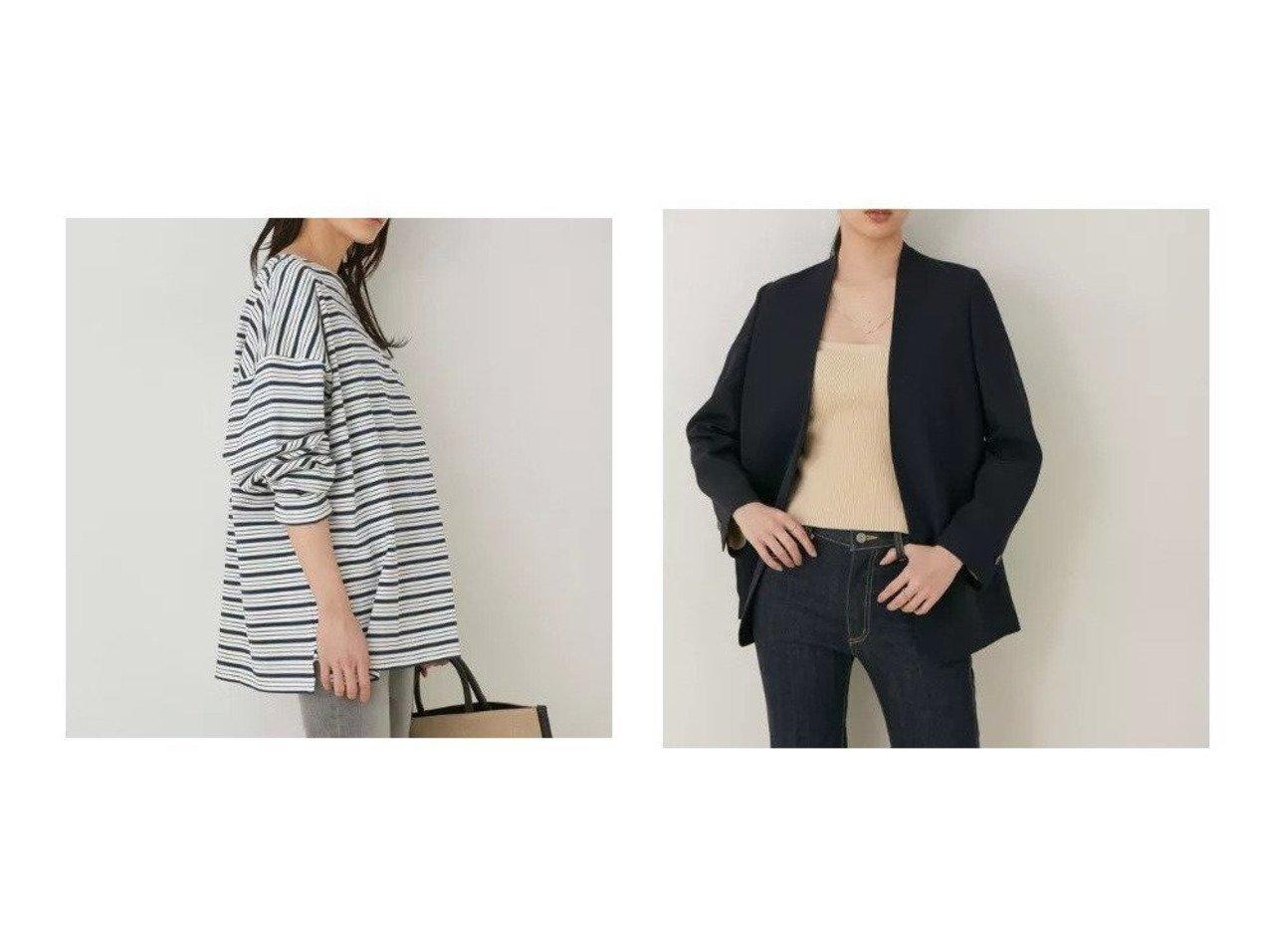 【ADAM ET ROPE'/アダム エ ロペ】の【WEB限定】BIGボーダープルオーバー&ニットベアトップ ROPEのおすすめ!人気、トレンド・レディースファッションの通販  おすすめで人気の流行・トレンド、ファッションの通販商品 メンズファッション・キッズファッション・インテリア・家具・レディースファッション・服の通販 founy(ファニー) https://founy.com/ ファッション Fashion レディースファッション WOMEN トップス Tops Tshirt シャツ/ブラウス Shirts Blouses ロング / Tシャツ T-Shirts プルオーバー Pullover カットソー Cut and Sewn ニット Knit Tops キャミソール / ノースリーブ No Sleeves 春 Spring カットソー サンダル 長袖 フォルム ボトム ボーダー ポケット 2021年 2021 S/S 春夏 SS Spring/Summer 2021 春夏 S/S SS Spring/Summer 2021 |ID:crp329100000018831