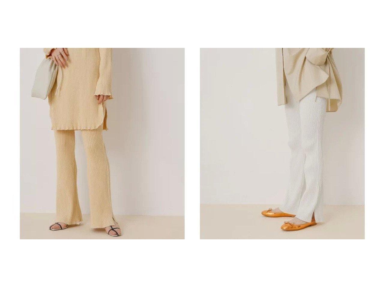 【ADAM ET ROPE'/アダム エ ロペ】の【セットアップ対応】スラブテレコイージーパンツ ROPEのおすすめ!人気、トレンド・レディースファッションの通販  おすすめで人気の流行・トレンド、ファッションの通販商品 メンズファッション・キッズファッション・インテリア・家具・レディースファッション・服の通販 founy(ファニー) https://founy.com/ ファッション Fashion レディースファッション WOMEN セットアップ Setup パンツ Pants 春 Spring カットソー スリット セットアップ チュニック テレコ フレア ポケット 2021年 2021 S/S 春夏 SS Spring/Summer 2021 春夏 S/S SS Spring/Summer 2021 |ID:crp329100000018832
