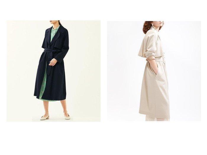【TOMORROWLAND/トゥモローランド】のウールギャバジン ガウンコート TOMORROWLANDのおすすめ!人気、トレンド・レディースファッションの通販  おすすめファッション通販アイテム レディースファッション・服の通販 founy(ファニー) ファッション Fashion レディースファッション WOMEN アウター Coat Outerwear コート Coats トレンチコート Trench Coats 2020年 2020 2020 春夏 S/S SS Spring/Summer 2020 S/S 春夏 SS Spring/Summer ガウン クラシカル バランス ライナー 今季 定番 Standard |ID:crp329100000018846