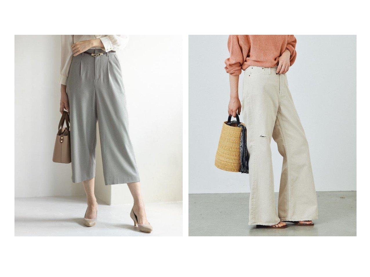 【any SiS/エニィ スィス】の2WAYレディ ワイドパンツ&【Plage/プラージュ】のダメージデニム パンツ パンツのおすすめ!人気、トレンド・レディースファッションの通販  おすすめで人気の流行・トレンド、ファッションの通販商品 メンズファッション・キッズファッション・インテリア・家具・レディースファッション・服の通販 founy(ファニー) https://founy.com/ ファッション Fashion レディースファッション WOMEN パンツ Pants デニムパンツ Denim Pants シンプル ストレッチ チェック 定番 Standard 人気 フェミニン ベーシック ワイド A/W 秋冬 AW Autumn/Winter / FW Fall-Winter 2021年 2021 2021 春夏 S/S SS Spring/Summer 2021 S/S 春夏 SS Spring/Summer カットオフ ダメージ デニム リメイク |ID:crp329100000018853