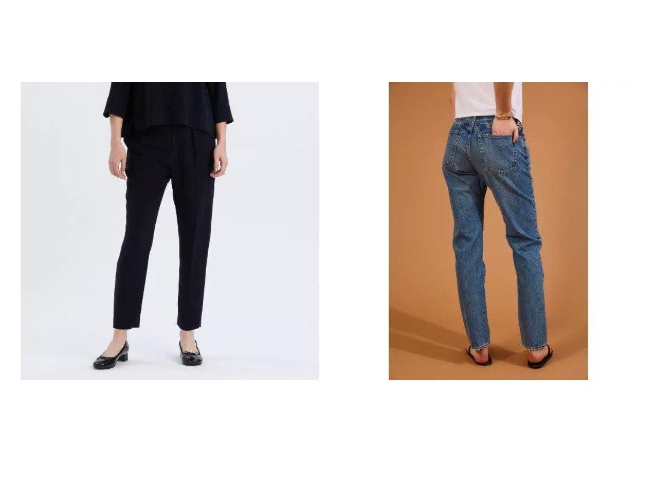 【Shinzone/シンゾーン】のジェネラルジーンズ&【MACKINTOSH PHILOSOPHY/マッキントッシュ フィロソフィー】のトリアセジョーゼットパンツ パンツのおすすめ!人気、トレンド・レディースファッションの通販  おすすめで人気の流行・トレンド、ファッションの通販商品 メンズファッション・キッズファッション・インテリア・家具・レディースファッション・服の通販 founy(ファニー) https://founy.com/ ファッション Fashion レディースファッション WOMEN パンツ Pants ハンド ポケット スマート デニム フォルム レギュラー |ID:crp329100000018857