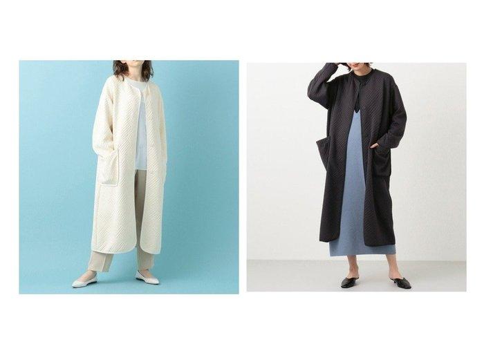 【#Newans/ハッシュニュアンス】の【洗える】キルティングジャージーロングコート #Newansのおすすめ!人気、トレンド・レディースファッションの通販  おすすめファッション通販アイテム インテリア・キッズ・メンズ・レディースファッション・服の通販 founy(ファニー) https://founy.com/ ファッション Fashion レディースファッション WOMEN アウター Coat Outerwear コート Coats ジャケット Jackets NEW・新作・新着・新入荷 New Arrivals 送料無料 Free Shipping 2021年 2021 2021 春夏 S/S SS Spring/Summer 2021 S/S 春夏 SS Spring/Summer キルティング ジャカード ジャケット ジャージー ストレッチ ドレープ 春 Spring 洗える |ID:crp329100000018859