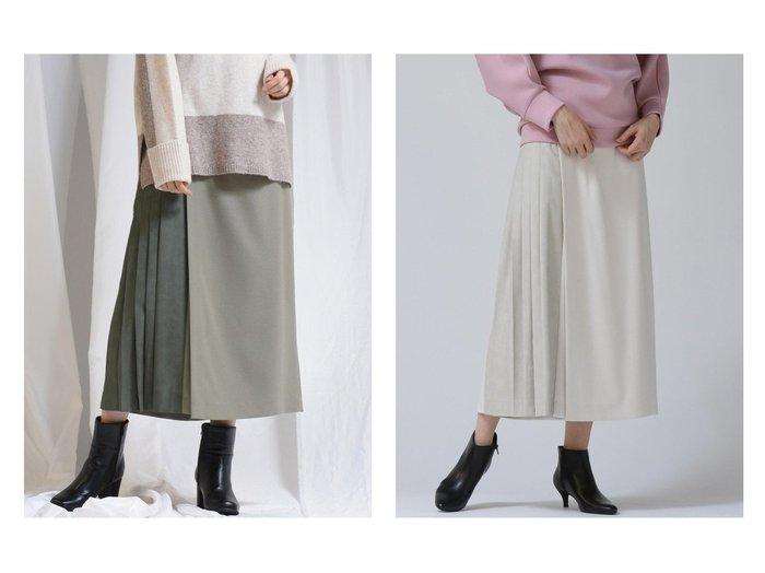 【MAYSON GREY/メイソングレイ】のレザーコンビサイドプリーツスカーチョ パンツのおすすめ!人気、トレンド・レディースファッションの通販  おすすめファッション通販アイテム レディースファッション・服の通販 founy(ファニー) ファッション Fashion レディースファッション WOMEN パンツ Pants ジーンズ  ID:crp329100000018866