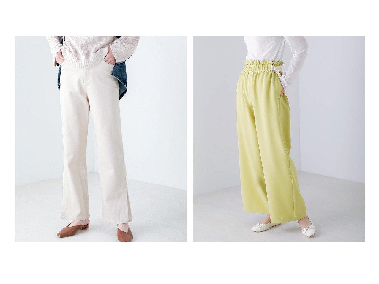 【Bou Jeloud/ブージュルード】の優秀デニム スリットストレッチデニムパンツ&サイドベルトセミワイドパンツ パンツのおすすめ!人気、トレンド・レディースファッションの通販  おすすめで人気の流行・トレンド、ファッションの通販商品 メンズファッション・キッズファッション・インテリア・家具・レディースファッション・服の通販 founy(ファニー) https://founy.com/ ファッション Fashion レディースファッション WOMEN パンツ Pants デニムパンツ Denim Pants ベルト Belts NEW・新作・新着・新入荷 New Arrivals ストレッチ スリット デニム フレア ポケット 楽ちん ギャザー ワイド |ID:crp329100000018879