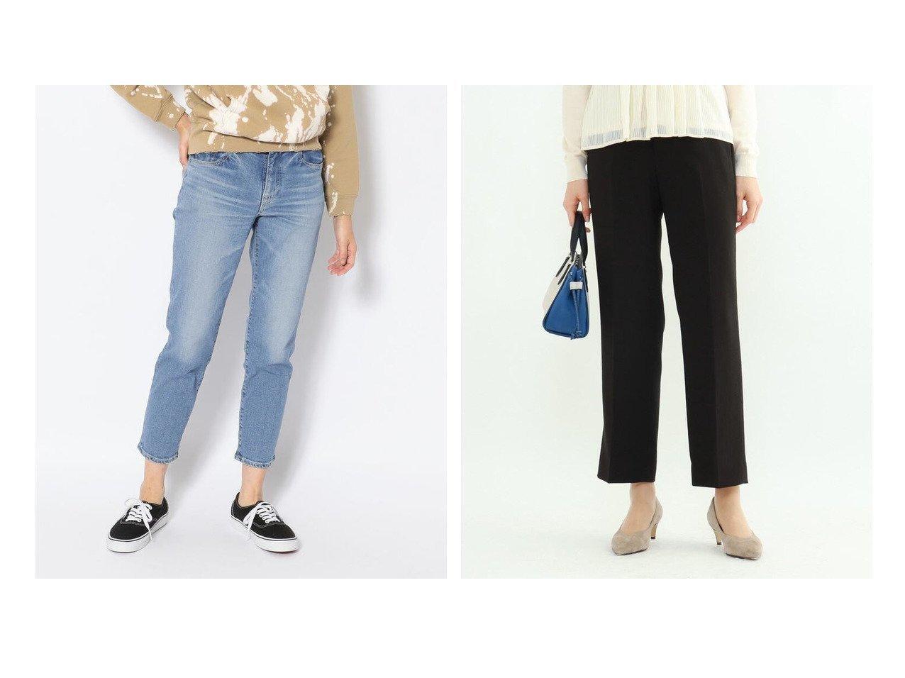 【BEAVER/ビーバー】のD.M.G./ディーエムジー 5Pアンクルスリムストレッチデニムパンツ&【INDIVI/インディヴィ】のエレコフツイルストレートパンツ パンツのおすすめ!人気、トレンド・レディースファッションの通販  おすすめで人気の流行・トレンド、ファッションの通販商品 メンズファッション・キッズファッション・インテリア・家具・レディースファッション・服の通販 founy(ファニー) https://founy.com/ ファッション Fashion レディースファッション WOMEN パンツ Pants デニムパンツ Denim Pants スーツ Suits スーツパンツ Pantsuit シンプル テーパード デニム ベーシック ミリタリー メンズ ワーク ストレッチ ストレート スーツ セットアップ フォーマル ポケット 再入荷 Restock/Back in Stock/Re Arrival 吸水 |ID:crp329100000018887