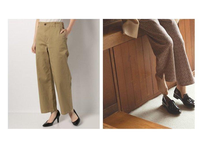 【marjour/マージュール】のRELAX RETRO PATTERN PANTS&【MELROSE claire/メルローズ クレール】のコットンチノストレッチストレートパンツ パンツのおすすめ!人気、トレンド・レディースファッションの通販  おすすめファッション通販アイテム レディースファッション・服の通販 founy(ファニー) ファッション Fashion レディースファッション WOMEN パンツ Pants NEW・新作・新着・新入荷 New Arrivals ストレッチ ストレート トレンド バランス フロント ポケット ワイド 定番 Standard シンプル プレーン リラックス |ID:crp329100000018888