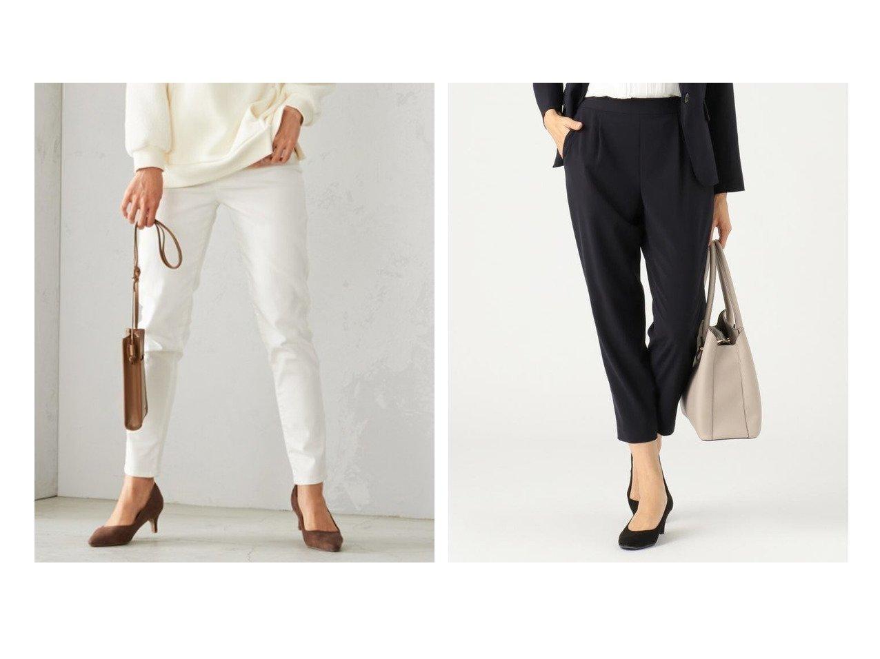 【any SiS/エニィ スィス】の【セットアップ対応】セレモニーダブルクロス テーパードパンツ&【COMME CA ISM/コムサイズム】のホワイトデニム スリムパンツ パンツのおすすめ!人気、トレンド・レディースファッションの通販  おすすめで人気の流行・トレンド、ファッションの通販商品 メンズファッション・キッズファッション・インテリア・家具・レディースファッション・服の通販 founy(ファニー) https://founy.com/ ファッション Fashion レディースファッション WOMEN パンツ Pants デニムパンツ Denim Pants セットアップ Setup パンツ Pants スキニー ストレッチ スリム デニム ジャケット スタイリッシュ セットアップ パターン 楽ちん ワイド 再入荷 Restock/Back in Stock/Re Arrival |ID:crp329100000018894