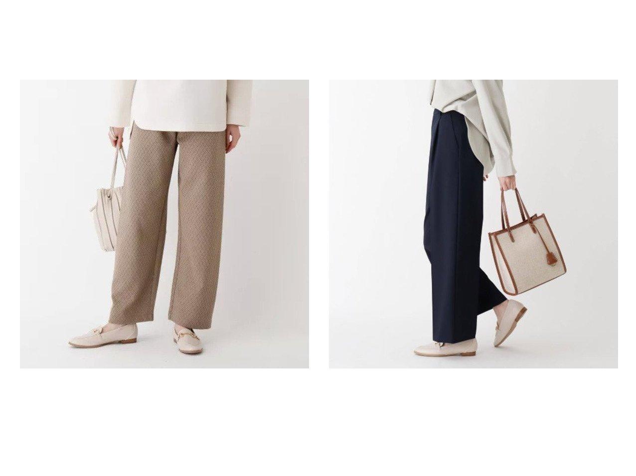 【OPAQUE.CLIP/オペークドットクリップ】のジオメトリックジャガード イージーパンツ&【WEB限定サイズ・カラーあり】beautiful stretch ワイドストレートパンツ パンツのおすすめ!人気、トレンド・レディースファッションの通販  おすすめで人気の流行・トレンド、ファッションの通販商品 メンズファッション・キッズファッション・インテリア・家具・レディースファッション・服の通販 founy(ファニー) https://founy.com/ ファッション Fashion レディースファッション WOMEN パンツ Pants カットソー ストレッチ ポケット ワイド |ID:crp329100000018902