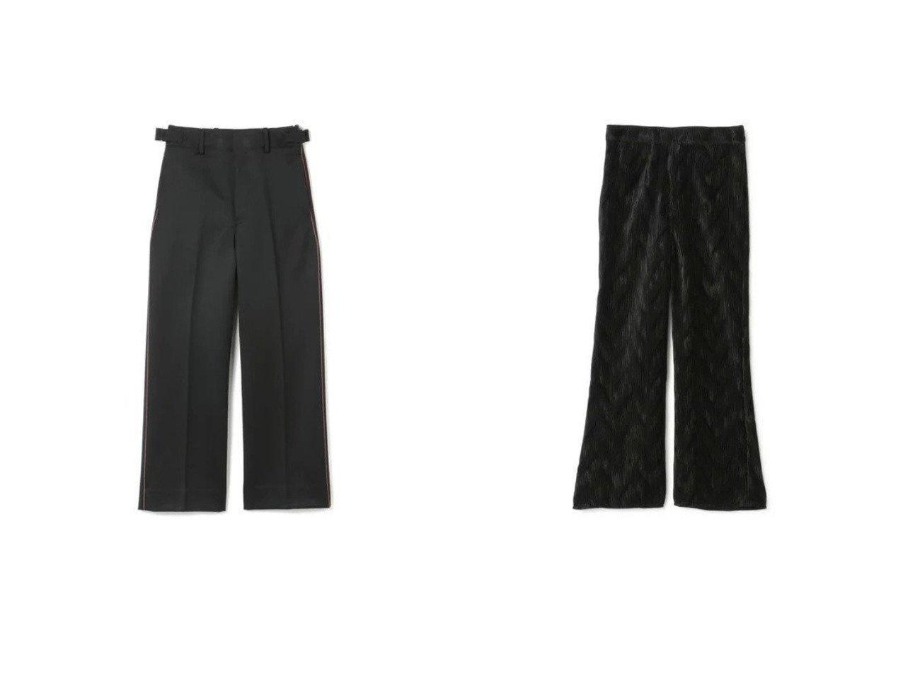 【beautiful people/ビューティフル ピープル】のregimental wool side line pants&【GANNI/ガニー】のPleated Satin Pants パンツのおすすめ!人気、トレンド・レディースファッションの通販  おすすめで人気の流行・トレンド、ファッションの通販商品 メンズファッション・キッズファッション・インテリア・家具・レディースファッション・服の通販 founy(ファニー) https://founy.com/ ファッション Fashion レディースファッション WOMEN パンツ Pants 2021年 2021 2021 春夏 S/S SS Spring/Summer 2021 S/S 春夏 SS Spring/Summer クール サテン フレア プリーツ 洗える |ID:crp329100000018906