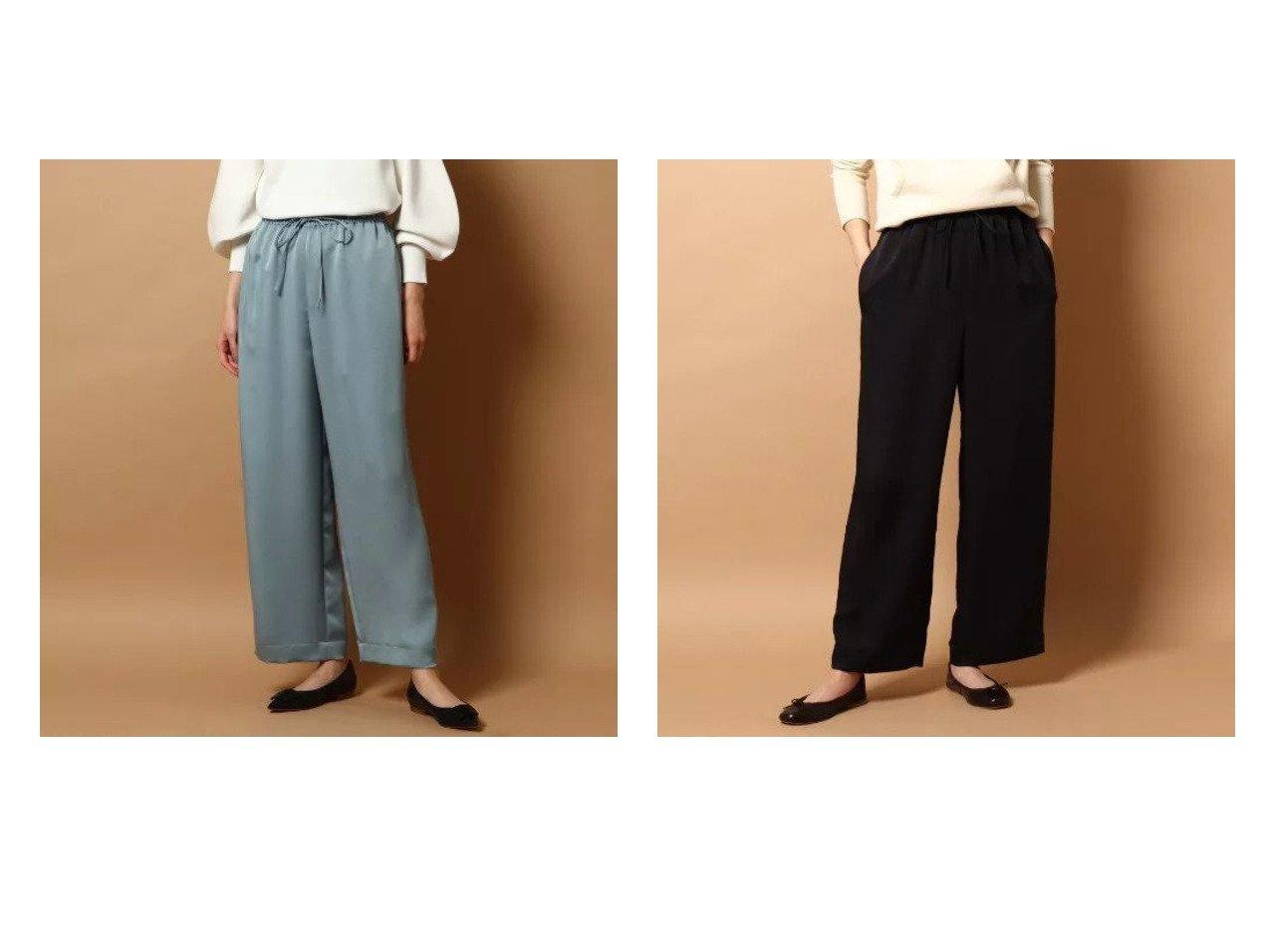 【DRESSTERIOR/ドレステリア】のヴィスミーヘビーサテンパンツ パンツのおすすめ!人気、トレンド・レディースファッションの通販  おすすめで人気の流行・トレンド、ファッションの通販商品 メンズファッション・キッズファッション・インテリア・家具・レディースファッション・服の通販 founy(ファニー) https://founy.com/ ファッション Fashion レディースファッション WOMEN パンツ Pants サテン ポケット リボン ワイド |ID:crp329100000018909