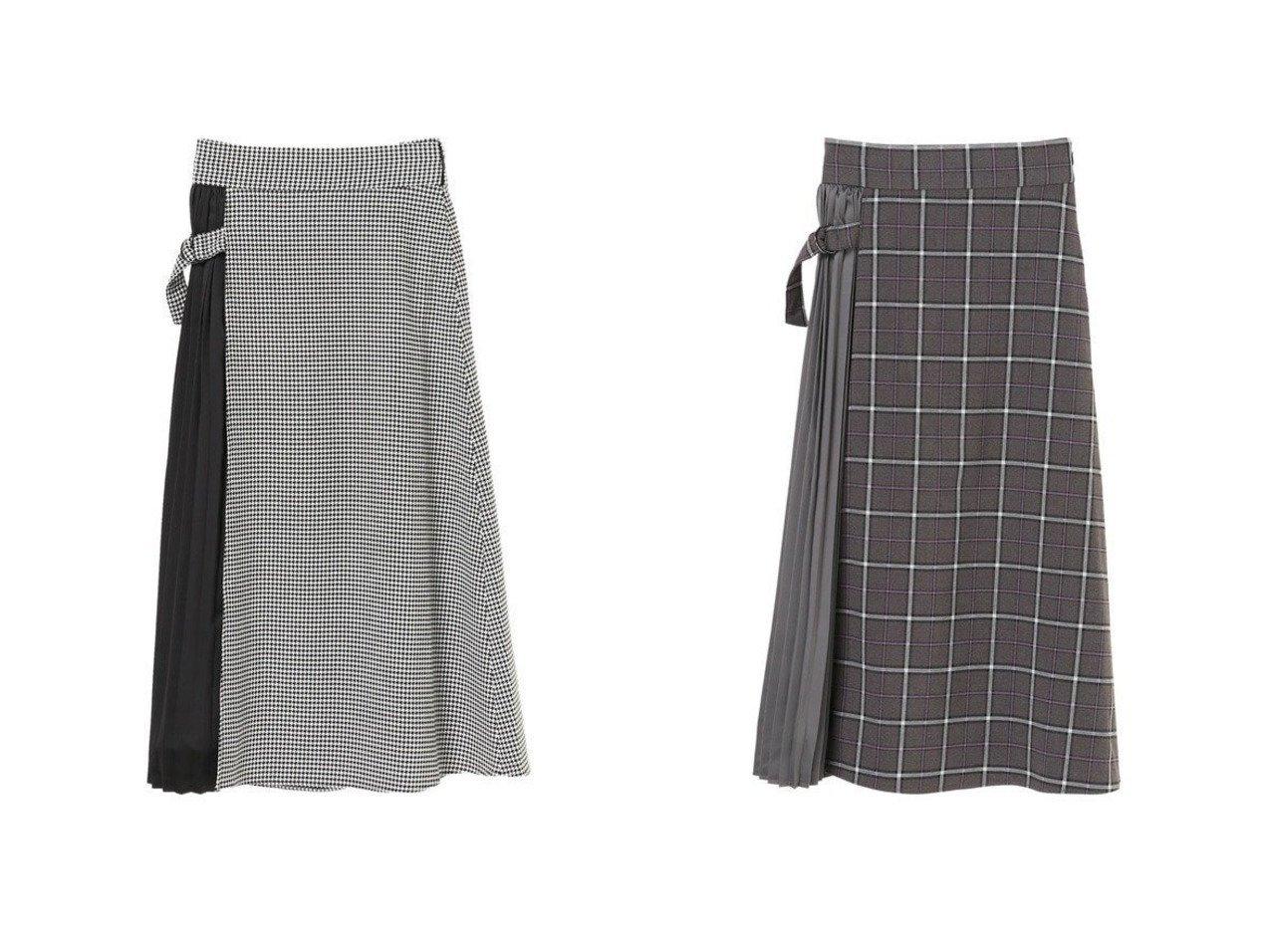 【YECCA VECCA/イェッカ ヴェッカ】の・チェック柄プリーツMIXスカート スカートのおすすめ!人気、トレンド・レディースファッションの通販 おすすめで人気の流行・トレンド、ファッションの通販商品 メンズファッション・キッズファッション・インテリア・家具・レディースファッション・服の通販 founy(ファニー) https://founy.com/ ファッション Fashion レディースファッション WOMEN スカート Skirt NEW・新作・新着・新入荷 New Arrivals 送料無料 Free Shipping エレガント チェック フレア プリーツ |ID:crp329100000018915