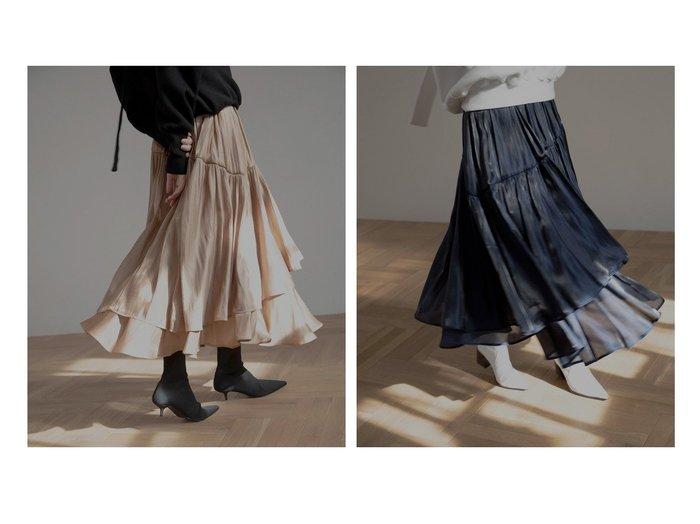 【MIELIINVARIANT/ミエリインヴァリアント】のオーロラティアードフレアスカート スカートのおすすめ!人気、トレンド・レディースファッションの通販 おすすめファッション通販アイテム レディースファッション・服の通販 founy(ファニー) ファッション Fashion レディースファッション WOMEN スカート Skirt Aライン/フレアスカート Flared A-Line Skirts ギャザー シンプル ティアード 再入荷 Restock/Back in Stock/Re Arrival  ID:crp329100000018916