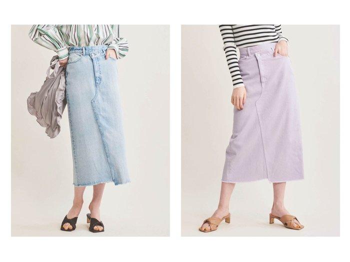 【The Virgnia/ザ ヴァージニア】のデニムタイトスカート スカートのおすすめ!人気、トレンド・レディースファッションの通販 おすすめファッション通販アイテム レディースファッション・服の通販 founy(ファニー) ファッション Fashion レディースファッション WOMEN スカート Skirt デニムスカート Denim Skirts NEW・新作・新着・新入荷 New Arrivals スリット デニム ラベンダー 定番 Standard |ID:crp329100000018918