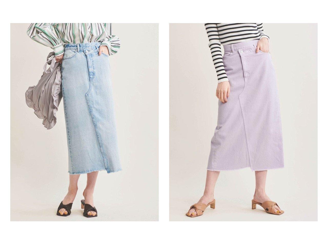 【The Virgnia/ザ ヴァージニア】のデニムタイトスカート スカートのおすすめ!人気、トレンド・レディースファッションの通販 おすすめで人気の流行・トレンド、ファッションの通販商品 メンズファッション・キッズファッション・インテリア・家具・レディースファッション・服の通販 founy(ファニー) https://founy.com/ ファッション Fashion レディースファッション WOMEN スカート Skirt デニムスカート Denim Skirts NEW・新作・新着・新入荷 New Arrivals スリット デニム ラベンダー 定番 Standard |ID:crp329100000018918