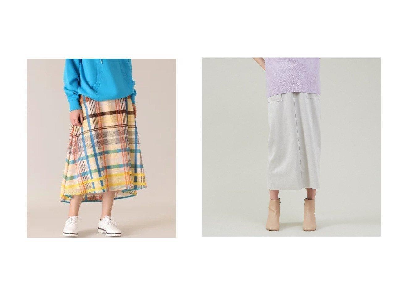 【abahouse mavie/アバハウスマヴィ】のecru スエードタイトロングスカート(裏付き)&【INED/イネド】の《Masion de Beige》シースルーチェックスカート《Viscotecs》 スカートのおすすめ!人気、トレンド・レディースファッションの通販 おすすめで人気の流行・トレンド、ファッションの通販商品 メンズファッション・キッズファッション・インテリア・家具・レディースファッション・服の通販 founy(ファニー) https://founy.com/ ファッション Fashion レディースファッション WOMEN スカート Skirt ロングスカート Long Skirt シルク シンプル チェック パーカー フレア プリント メッシュ スエード ストレッチ セットアップ トレンド ロング |ID:crp329100000018920