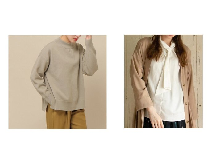 【ikka LOUNGE/イッカラウンジ】のスタンドボウタイブラウス&【ikka/イッカ】のスウェットニット ikkaのおすすめ!人気、トレンド・レディースファッションの通販 おすすめファッション通販アイテム レディースファッション・服の通販 founy(ファニー) ファッション Fashion レディースファッション WOMEN トップス Tops Tshirt ニット Knit Tops パーカ Sweats スウェット Sweat シャツ/ブラウス Shirts Blouses NEW・新作・新着・新入荷 New Arrivals ジャージ スウェット 長袖 A/W 秋冬 AW Autumn/Winter / FW Fall-Winter インナー ジャケット スタンド デニム 定番 Standard |ID:crp329100000018936