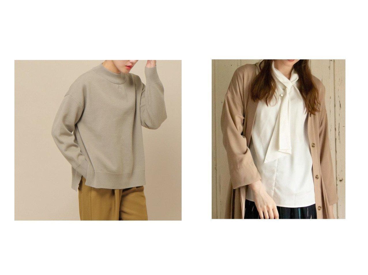 【ikka LOUNGE/イッカラウンジ】のスタンドボウタイブラウス&【ikka/イッカ】のスウェットニット ikkaのおすすめ!人気、トレンド・レディースファッションの通販 おすすめで人気の流行・トレンド、ファッションの通販商品 メンズファッション・キッズファッション・インテリア・家具・レディースファッション・服の通販 founy(ファニー) https://founy.com/ ファッション Fashion レディースファッション WOMEN トップス Tops Tshirt ニット Knit Tops パーカ Sweats スウェット Sweat シャツ/ブラウス Shirts Blouses NEW・新作・新着・新入荷 New Arrivals ジャージ スウェット 長袖 A/W 秋冬 AW Autumn/Winter / FW Fall-Winter インナー ジャケット スタンド デニム 定番 Standard |ID:crp329100000018936