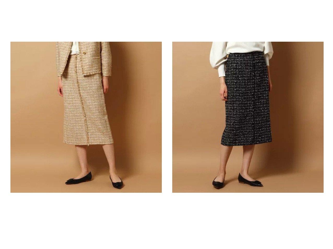 【DRESSTERIOR/ドレステリア】のファンシーツィード ラップ風スカート DRESSTERIORのおすすめ!人気、トレンド・レディースファッションの通販  おすすめで人気の流行・トレンド、ファッションの通販商品 メンズファッション・キッズファッション・インテリア・家具・レディースファッション・服の通販 founy(ファニー) https://founy.com/ ファッション Fashion レディースファッション WOMEN スカート Skirt ジャケット ストレート ツィード フリンジ フレア フロント ポケット ラップ  ID:crp329100000018957
