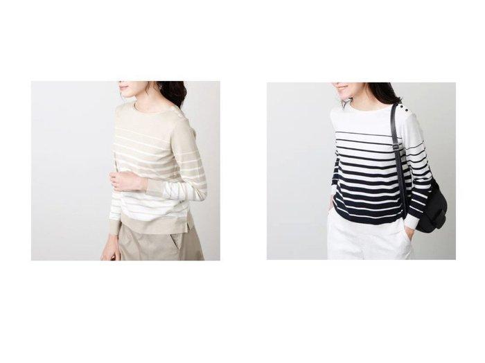 【NEWYORKER/ニューヨーカー】の成型グラデーションボーダーカットソー NEWYORKERのおすすめ!人気、トレンド・レディースファッションの通販  おすすめファッション通販アイテム レディースファッション・服の通販 founy(ファニー) ファッション Fashion レディースファッション WOMEN トップス Tops Tshirt シャツ/ブラウス Shirts Blouses ロング / Tシャツ T-Shirts カットソー Cut and Sewn インナー 春 Spring カットソー グラデーション シャイニー 定番 Standard 長袖 ボトム ボーダー S/S 春夏 SS Spring/Summer |ID:crp329100000018960