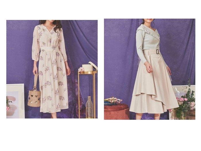 【Noela/ノエラ】のアシメヘムフレアスカート&ミモザ刺繍ワンピース Noelaのおすすめ!人気、トレンド・レディースファッションの通販  おすすめファッション通販アイテム レディースファッション・服の通販 founy(ファニー) ファッション Fashion レディースファッション WOMEN ワンピース Dress スカート Skirt Aライン/フレアスカート Flared A-Line Skirts NEW・新作・新着・新入荷 New Arrivals リラックス 春 Spring アシンメトリー エアリー ギャザー シンプル チュール フレア ポケット 無地 |ID:crp329100000018970