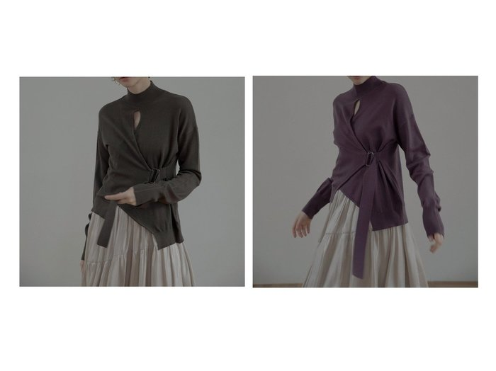 【MIELIINVARIANT/ミエリインヴァリアント】のホールネックウエストベルトニットトップス トップス・カットソーのおすすめ!人気、トレンド・レディースファッションの通販  おすすめファッション通販アイテム レディースファッション・服の通販 founy(ファニー) ファッション Fashion レディースファッション WOMEN トップス Tops Tshirt ニット Knit Tops ベルト Belts NEW・新作・新着・新入荷 New Arrivals シンプル セーター デコルテ ボトム 春 Spring |ID:crp329100000018988