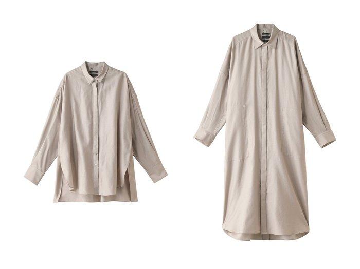 【Chaos/カオス】のクリアモールスキンワンピース&クリアモールスキンシャツ Chaosのおすすめ!人気、トレンド・レディースファッションの通販 おすすめファッション通販アイテム レディースファッション・服の通販 founy(ファニー) ファッション Fashion レディースファッション WOMEN トップス Tops Tshirt シャツ/ブラウス Shirts Blouses ワンピース Dress 2021年 2021 2021 春夏 S/S SS Spring/Summer 2021 S/S 春夏 SS Spring/Summer オケージョン スリット スリーブ ロング 春 Spring |ID:crp329100000019028