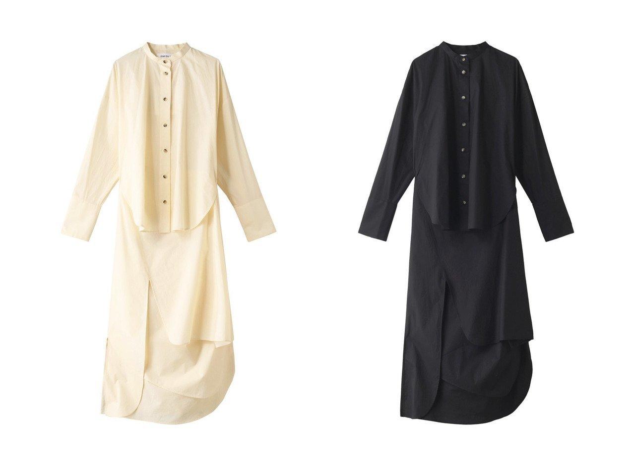 【ENFOLD/エンフォルド】のCOブロード レイヤーシャツ ドレス・ワンピース&SOMELOS レイヤーシャツ ドレス・ワンピース ENFOLDのおすすめ!人気、トレンド・レディースファッションの通販 おすすめで人気の流行・トレンド、ファッションの通販商品 メンズファッション・キッズファッション・インテリア・家具・レディースファッション・服の通販 founy(ファニー) https://founy.com/ ファッション Fashion レディースファッション WOMEN ワンピース Dress ドレス Party Dresses 2021年 2021 2021 春夏 S/S SS Spring/Summer 2021 S/S 春夏 SS Spring/Summer なめらか ドレス ブロード ロング 春 Spring  ID:crp329100000019035