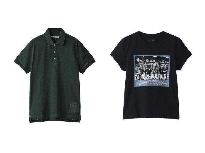 【ZADIG & VOLTAIRE/ザディグ エ ヴォルテール】のZOE PHOTOPRINT T-SHIRT COTON Tシャツ&【ZADIG & VOLTAIRE / MEN/ザディグ エ ヴォルテール】の【MEN】TROT MC COLD DYED POLO PIQUE ICONIC ZV Tシャツ 【MEN】おすすめ!人気トレンド・男性、メンズファッションの通販 おすすめファッション通販アイテム インテリア・キッズ・メンズ・レディースファッション・服の通販 founy(ファニー) https://founy.com/ ファッション Fashion メンズファッション MEN トップス Tops Tshirt Men シャツ Shirts レディースファッション WOMEN トップス Tops Tshirt シャツ/ブラウス Shirts Blouses ロング / Tシャツ T-Shirts カットソー Cut and Sewn 2021年 2021 2021 春夏 S/S SS Spring/Summer 2021 S/S 春夏 SS Spring/Summer ショート シンプル スリーブ ダメージ ポロシャツ 春 Spring |ID:crp329100000019039