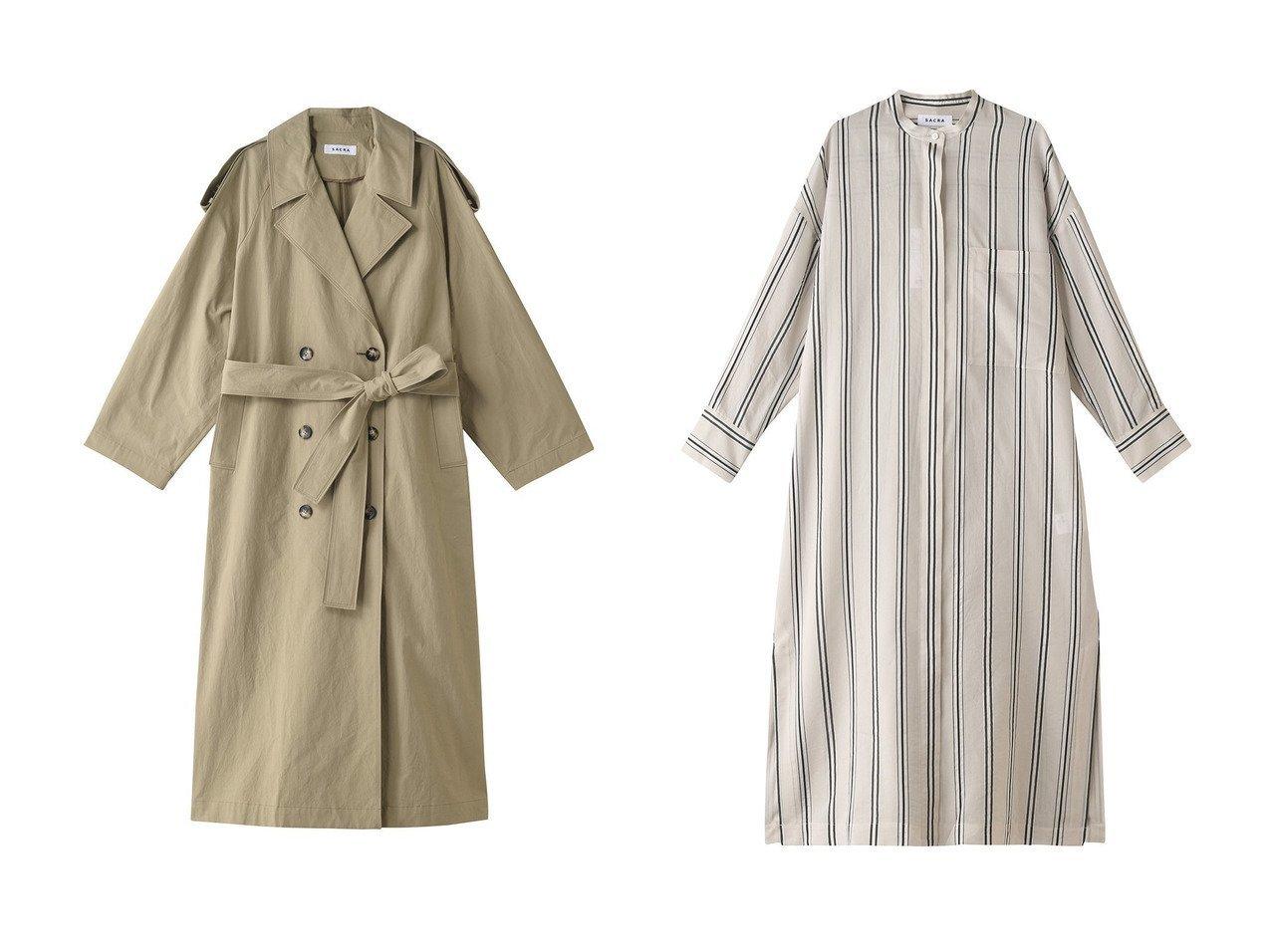 【SACRA/サクラ】のコットンヴィスコースシルクストライプワンピース&クランブル加工コットントレンチコート SACRAのおすすめ!人気、トレンド・レディースファッションの通販 おすすめで人気の流行・トレンド、ファッションの通販商品 メンズファッション・キッズファッション・インテリア・家具・レディースファッション・服の通販 founy(ファニー) https://founy.com/ ファッション Fashion レディースファッション WOMEN アウター Coat Outerwear コート Coats トレンチコート Trench Coats ワンピース Dress 2021年 2021 2021 春夏 S/S SS Spring/Summer 2021 S/S 春夏 SS Spring/Summer ロング 定番 Standard 春 Spring |ID:crp329100000019061