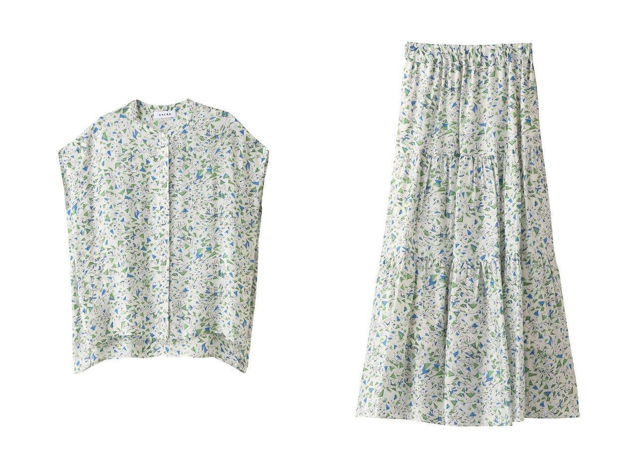 【SACRA/サクラ】のドローイングプリントティアードスカート&ドローイングプリントブラウス SACRAのおすすめ!人気、トレンド・レディースファッションの通販 おすすめで人気の流行・トレンド、ファッションの通販商品 メンズファッション・キッズファッション・インテリア・家具・レディースファッション・服の通販 founy(ファニー) https://founy.com/ ファッション Fashion レディースファッション WOMEN トップス Tops Tshirt シャツ/ブラウス Shirts Blouses スカート Skirt ティアードスカート Tiered Skirts ロングスカート Long Skirt 2021年 2021 2021 春夏 S/S SS Spring/Summer 2021 S/S 春夏 SS Spring/Summer ショート スリーブ プリント 春 Spring |ID:crp329100000019063