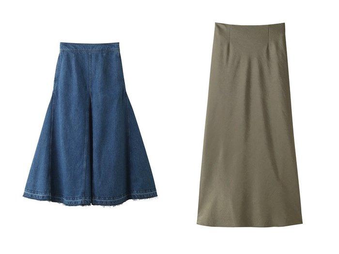 【SACRA/サクラ】のトリアセサテンスカート&コットンリネンデニムスカート SACRAのおすすめ!人気、トレンド・レディースファッションの通販 おすすめファッション通販アイテム レディースファッション・服の通販 founy(ファニー) ファッション Fashion レディースファッション WOMEN スカート Skirt デニムスカート Denim Skirts ロングスカート Long Skirt 2021年 2021 2021 春夏 S/S SS Spring/Summer 2021 S/S 春夏 SS Spring/Summer シンプル デニム フレア リネン ロング 春 Spring |ID:crp329100000019065