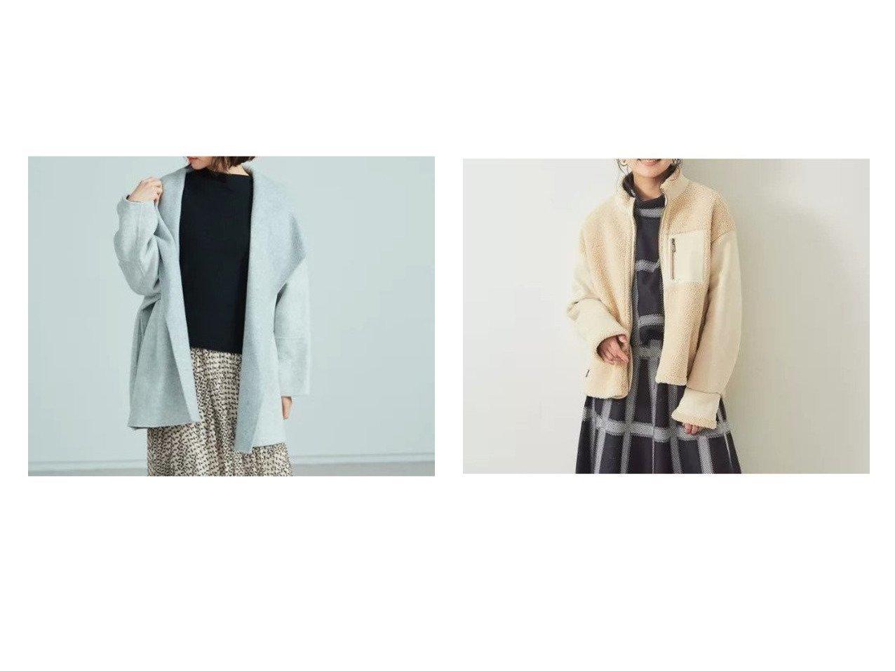 【Rouge vif/ルージュ ヴィフ】の【Mylanka】ボアムートンブルゾン&【BRAHMIN】リバーコート Rouge vifのおすすめ!人気、トレンド・レディースファッションの通販 おすすめで人気の流行・トレンド、ファッションの通販商品 メンズファッション・キッズファッション・インテリア・家具・レディースファッション・服の通販 founy(ファニー) https://founy.com/ ファッション Fashion レディースファッション WOMEN アウター Coat Outerwear コート Coats ジャケット Jackets ブルゾン Blouson Jackets エアリー ジャケット スウェット スリーブ デニム フェミニン ブルゾン  ID:crp329100000019123