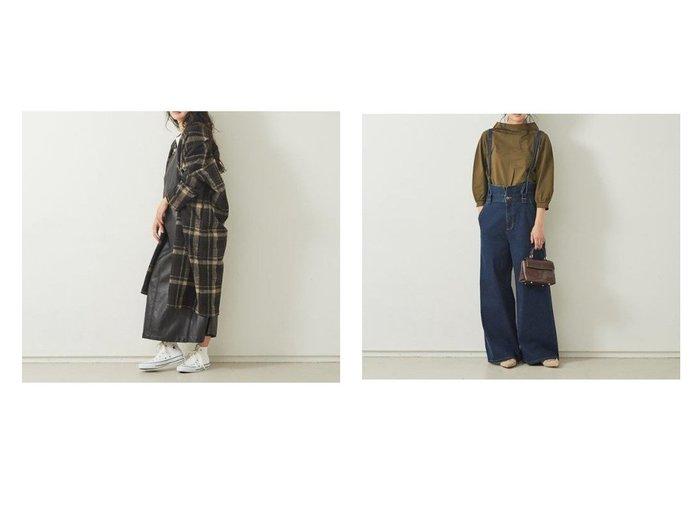 【Rouge vif/ルージュ ヴィフ】の【Mylanka】チェック柄ニットコート&【Mylanka】ワイドデニムサロペット Rouge vifのおすすめ!人気、トレンド・レディースファッションの通販 おすすめファッション通販アイテム インテリア・キッズ・メンズ・レディースファッション・服の通販 founy(ファニー) https://founy.com/ ファッション Fashion レディースファッション WOMEN ワンピース Dress サロペット Salopette アウター Coat Outerwear コート Coats チェスターコート Top Coat インディゴ カットソー サスペンダー サロペット シンプル ストレッチ ストレート デニム ワイド A/W 秋冬 AW Autumn/Winter / FW Fall-Winter ガウン チェスターコート チェック リラックス |ID:crp329100000019124