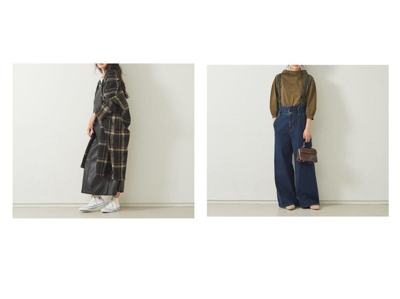 【Rouge vif/ルージュ ヴィフ】の【Mylanka】チェック柄ニットコート&【Mylanka】ワイドデニムサロペット Rouge vifのおすすめ!人気、トレンド・レディースファッションの通販 おすすめで人気の流行・トレンド、ファッションの通販商品 メンズファッション・キッズファッション・インテリア・家具・レディースファッション・服の通販 founy(ファニー) https://founy.com/ ファッション Fashion レディースファッション WOMEN アウター Coat Outerwear コート Coats チェスターコート Top Coat ワンピース Dress サロペット Salopette A/W 秋冬 AW Autumn/Winter / FW Fall-Winter ガウン サロペット チェスターコート チェック リラックス インディゴ カットソー サスペンダー シンプル ストレッチ ストレート デニム ワイド  ID:crp329100000019124