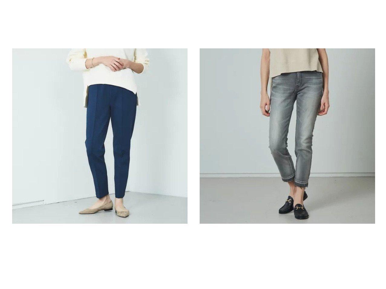 【Rouge vif/ルージュ ヴィフ】の【Mylanka】デニムスキニーパンツ&【Mylanka】センタープレスイージーパンツ Rouge vifのおすすめ!人気、トレンド・レディースファッションの通販 おすすめで人気の流行・トレンド、ファッションの通販商品 メンズファッション・キッズファッション・インテリア・家具・レディースファッション・服の通販 founy(ファニー) https://founy.com/ ファッション Fashion レディースファッション WOMEN パンツ Pants センター インディゴ セーター デニム 今季 定番 Standard  ID:crp329100000019126