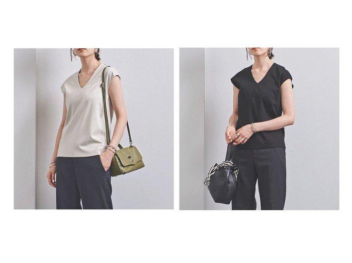 【UNITED ARROWS/ユナイテッドアローズ】のUBCB C DOUBLE Vネック Tシャツ 2 UNITED ARROWSのおすすめ!人気、トレンド・レディースファッションの通販 おすすめファッション通販アイテム インテリア・キッズ・メンズ・レディースファッション・服の通販 founy(ファニー) https://founy.com/ ファッション Fashion レディースファッション WOMEN トップス Tops Tshirt シャツ/ブラウス Shirts Blouses ロング / Tシャツ T-Shirts カットソー Cut and Sewn Vネック V-Neck インナー キャップ コンパクト ジャケット スリーブ |ID:crp329100000019133
