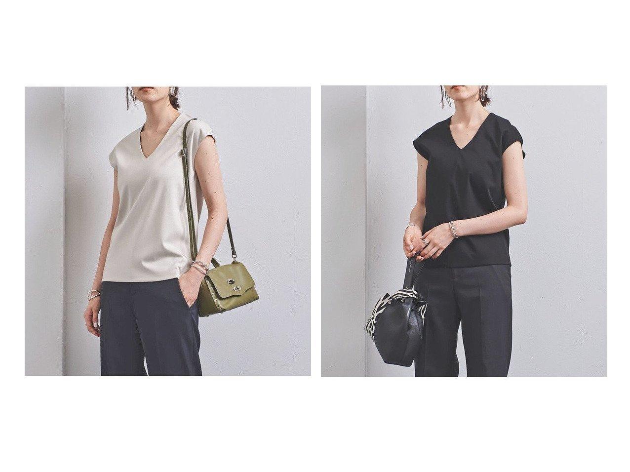 【UNITED ARROWS/ユナイテッドアローズ】のUBCB C DOUBLE Vネック Tシャツ 2 UNITED ARROWSのおすすめ!人気、トレンド・レディースファッションの通販 おすすめで人気の流行・トレンド、ファッションの通販商品 メンズファッション・キッズファッション・インテリア・家具・レディースファッション・服の通販 founy(ファニー) https://founy.com/ ファッション Fashion レディースファッション WOMEN トップス Tops Tshirt シャツ/ブラウス Shirts Blouses ロング / Tシャツ T-Shirts カットソー Cut and Sewn Vネック V-Neck インナー キャップ コンパクト ジャケット スリーブ |ID:crp329100000019133