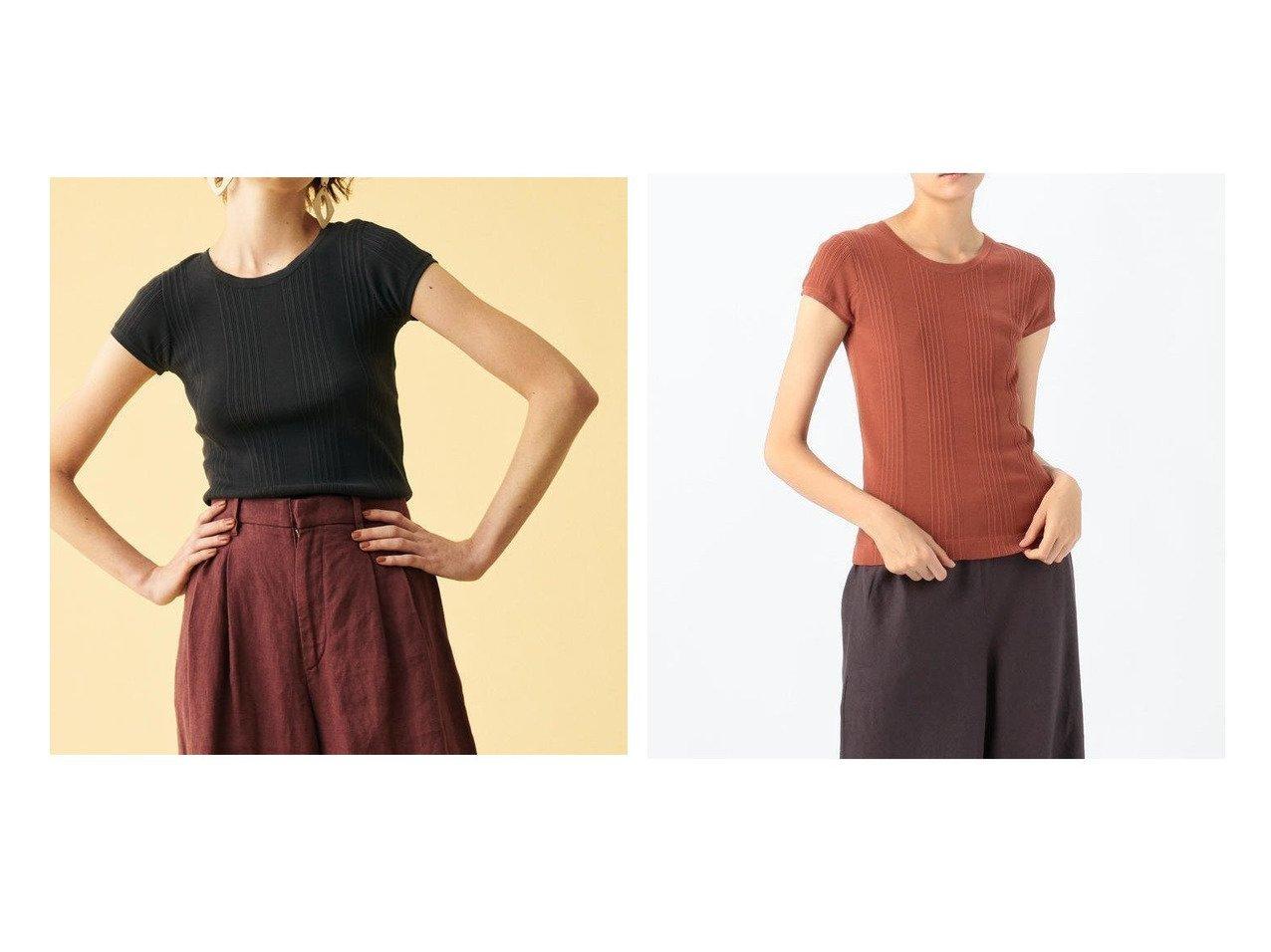 【GALERIE VIE / TOMORROWLAND/ギャルリー ヴィー】のギザコットンランダムリブ クルーネックプルオーバー TOMORROWLANDのおすすめ!人気、トレンド・レディースファッションの通販 おすすめで人気の流行・トレンド、ファッションの通販商品 メンズファッション・キッズファッション・インテリア・家具・レディースファッション・服の通販 founy(ファニー) https://founy.com/ ファッション Fashion レディースファッション WOMEN トップス Tops Tshirt ニット Knit Tops プルオーバー Pullover 2020年 2020 2020 春夏 S/S SS Spring/Summer 2020 S/S 春夏 SS Spring/Summer コンパクト シンプル セーター バランス フィット  ID:crp329100000019147
