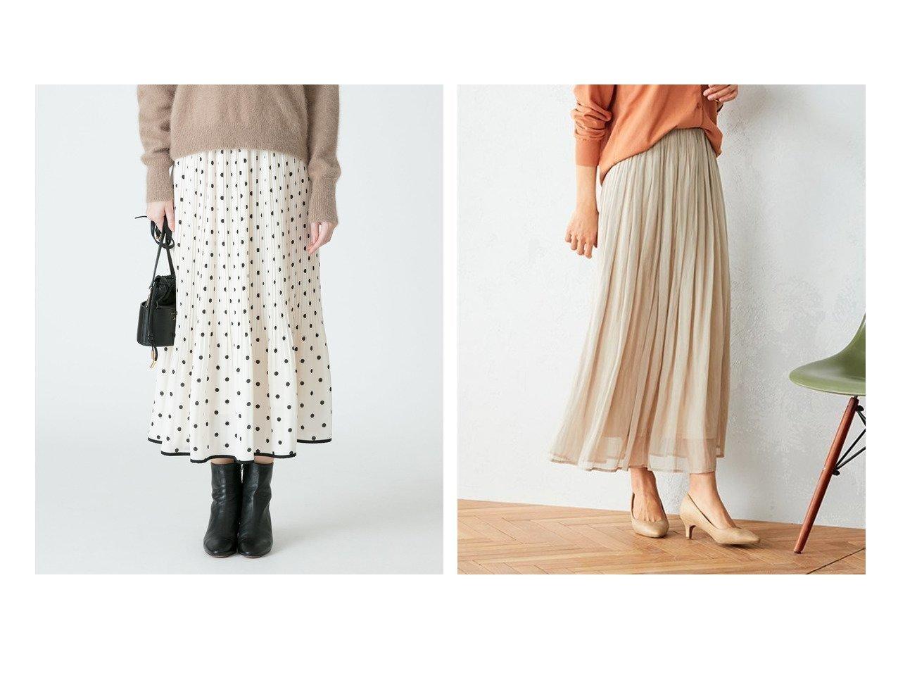 【COMME CA ISM/コムサイズム】の〈ウエストゴム〉シフォン ギャザースカート&【allureville/アルアバイル】のパイピングヘムドットプリーツスカート スカートのおすすめ!人気、トレンド・レディースファッションの通販  おすすめで人気の流行・トレンド、ファッションの通販商品 メンズファッション・キッズファッション・インテリア・家具・レディースファッション・服の通販 founy(ファニー) https://founy.com/ ファッション Fashion レディースファッション WOMEN スカート Skirt プリーツスカート Pleated Skirts Aライン/フレアスカート Flared A-Line Skirts エレガント クラシカル ドット パイピング プリーツ ロング 再入荷 Restock/Back in Stock/Re Arrival NEW・新作・新着・新入荷 New Arrivals ギャザー シアー シフォン フレア |ID:crp329100000019215