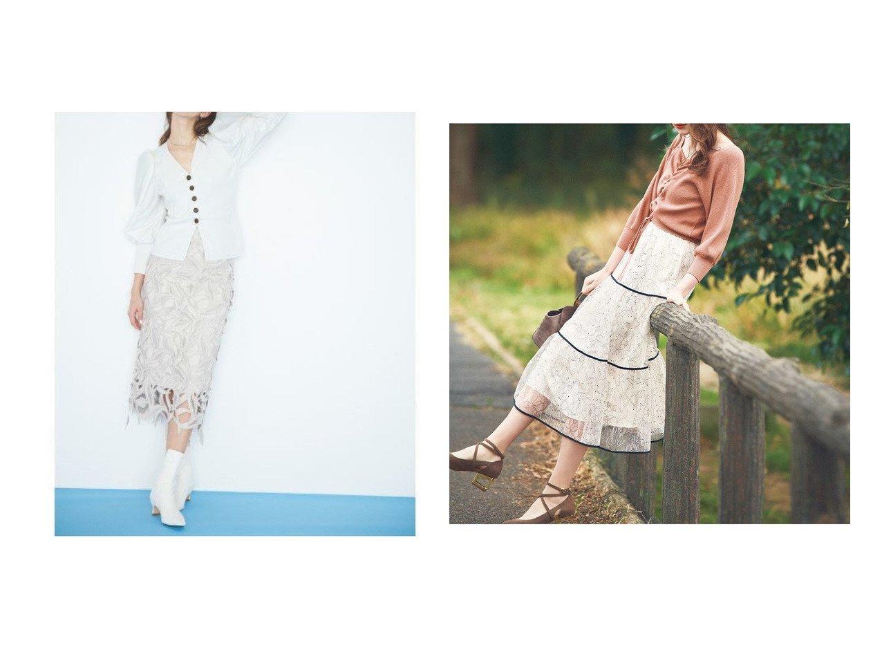 【Noela/ノエラ】の【美人百花2月号掲載】配色レーススカート&【CELFORD/セルフォード】のスワローレーススカート スカートのおすすめ!人気、トレンド・レディースファッションの通販  おすすめで人気の流行・トレンド、ファッションの通販商品 メンズファッション・キッズファッション・インテリア・家具・レディースファッション・服の通販 founy(ファニー) https://founy.com/ 雑誌掲載アイテム Magazine items ファッション雑誌 Fashion magazines ビジンヒャッカ 美人百花 ファッション Fashion レディースファッション WOMEN スカート Skirt Aライン/フレアスカート Flared A-Line Skirts インナー 春 Spring スマート メッシュ モチーフ ランダム リネン リーフ レース ワーク NEW・新作・新着・新入荷 New Arrivals 2月号 オレンジ ギャザー ティアードスカート フェミニン フレア 雑誌 |ID:crp329100000019220
