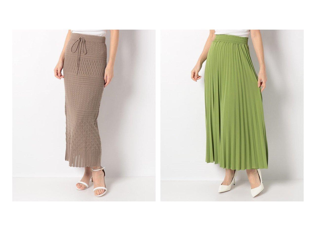 【PREFERIR/プレフェリール】のshe mo shellyスカシ柄ニットスカート&【salire/サリア】のプリーツロングスカート スカートのおすすめ!人気、トレンド・レディースファッションの通販  おすすめで人気の流行・トレンド、ファッションの通販商品 メンズファッション・キッズファッション・インテリア・家具・レディースファッション・服の通販 founy(ファニー) https://founy.com/ ファッション Fashion レディースファッション WOMEN スカート Skirt プリーツスカート Pleated Skirts ロングスカート Long Skirt NEW・新作・新着・新入荷 New Arrivals S/S 春夏 SS Spring/Summer カーディガン コレクション シンプル タイトスカート ペチコート 春 Spring 透かし ギャザー プリーツ マキシ |ID:crp329100000019226