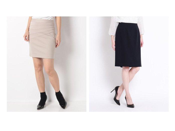 【salire/サリア】の斜め切り替えバンテージスカート&【COUP DE CHANCE/クード シャンス】の【入卒/洗える】ムーンダブルタイトスカート スカートのおすすめ!人気、トレンド・レディースファッションの通販  おすすめファッション通販アイテム レディースファッション・服の通販 founy(ファニー) ファッション Fashion レディースファッション WOMEN スカート Skirt スーツ Suits スーツ スカート Skirt NEW・新作・新着・新入荷 New Arrivals エレガント タイトスカート スーツ フォーマル 洗える |ID:crp329100000019227